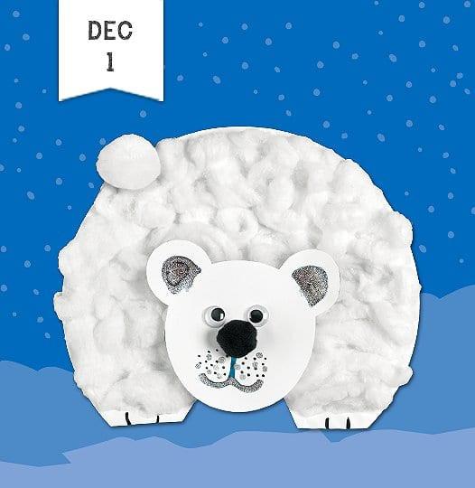 Polar Bear Crafts For Kids  Fluffy Polar Bear Craft Hazard Center