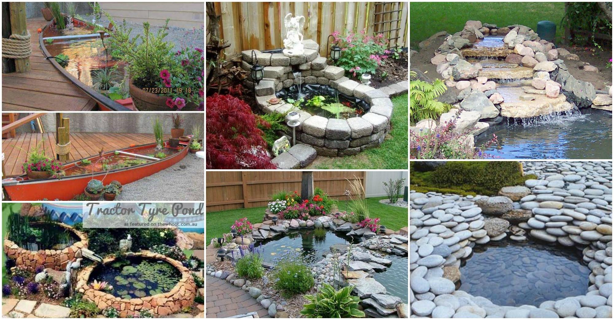Pond In Backyard  20 DIY Backyard Pond Ideas A Bud That You Will Love