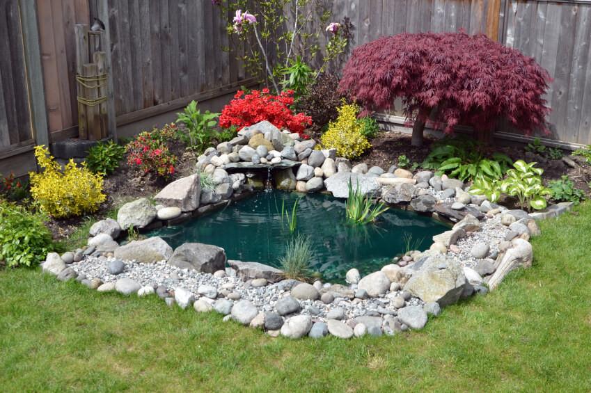 Pond In Backyard  37 Backyard Pond Ideas & Designs