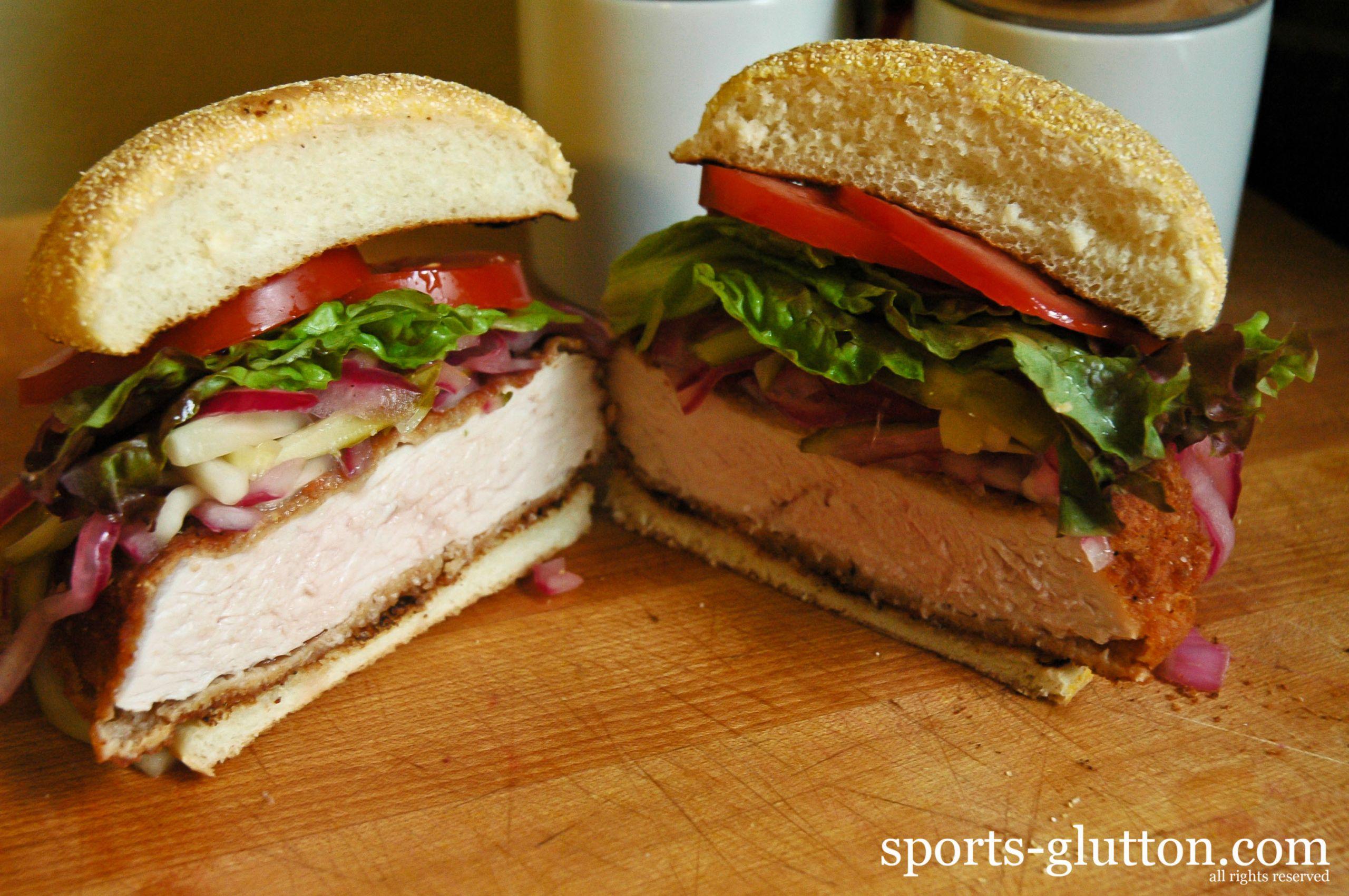 Pork Loin Sandwiches Recipe  Indianapolis Colts Breaded Pork Tenderloin Sandwich