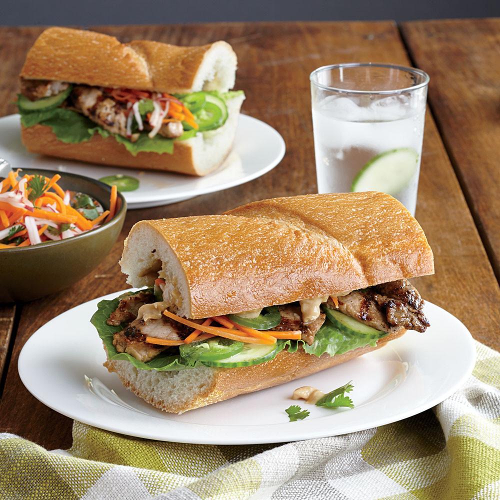 Pork Loin Sandwiches Recipe  Ginger Soy Pork Loin Sandwiches Recipe