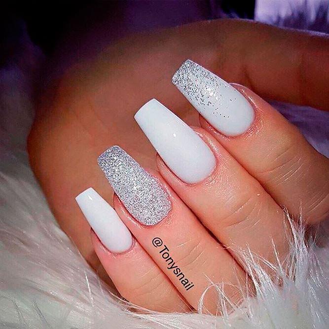 Pretty White Nails  Stunning White Nail Designs