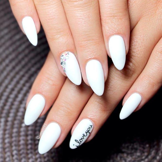 Pretty White Nails  Top 65 Pretty White Nails With Glitter Shapes trendy