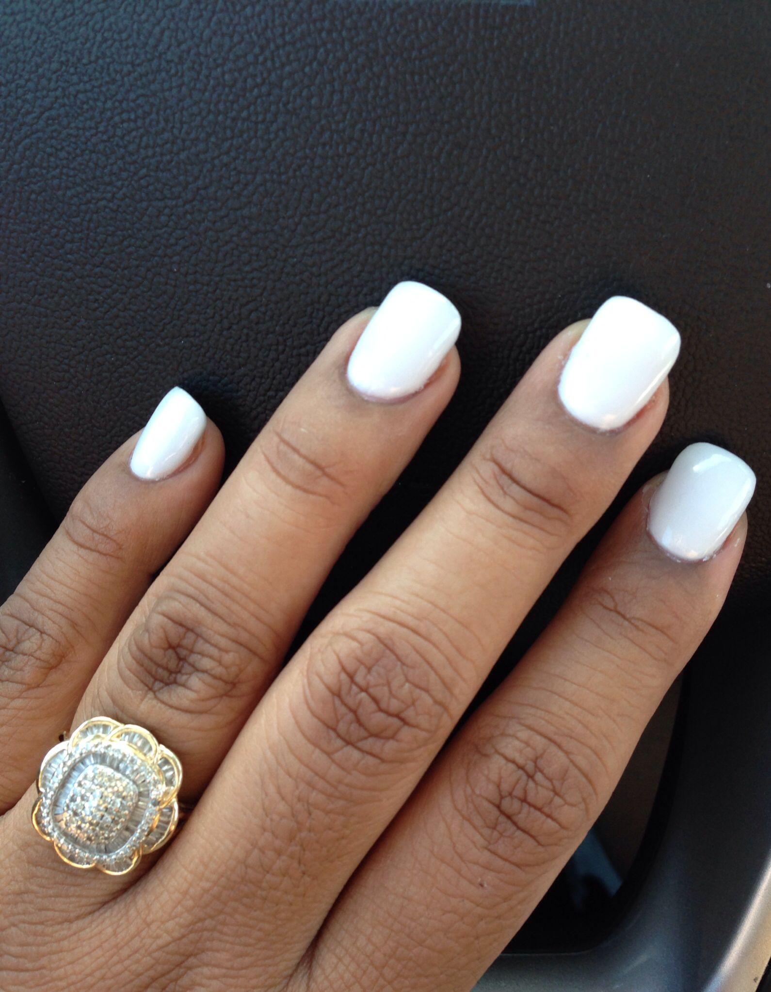 Pretty White Nails  White Acrylic Nails powder pretty long