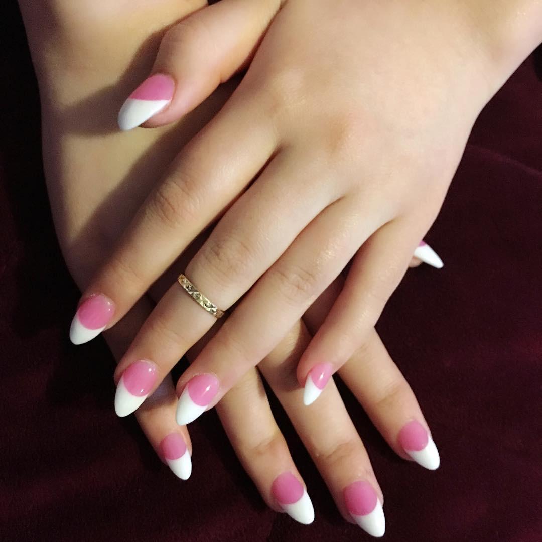 Pretty White Nails  23 Pink & White Nail Art Designs Ideas