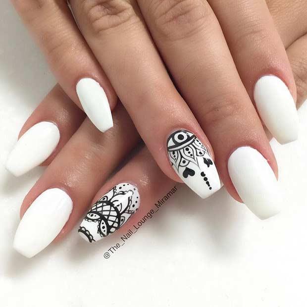 Pretty White Nails  41 Chic White Acrylic Nails to Copy