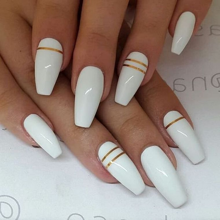 Pretty White Nails  59 White Nail Art Ideas Worth Stealing Page 20 of 59