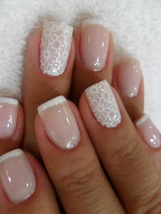 Pretty White Nails  Wedding Inspired Nail Designs You Must Love Pretty Designs