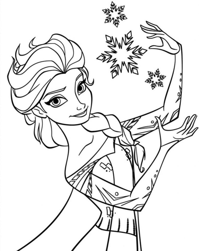 Printable Coloring Pages Kids  Free Printable Elsa Coloring Pages for Kids Best