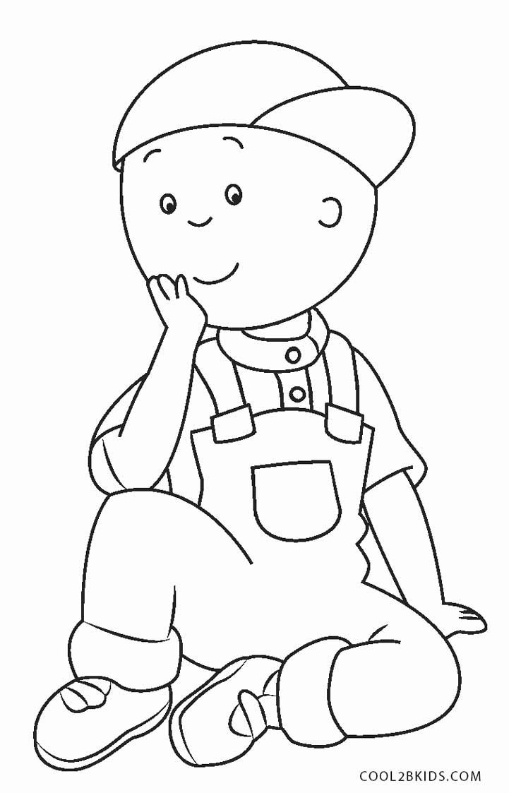 Printable Coloring Pages Kids  Free Printable Caillou Coloring Pages For Kids
