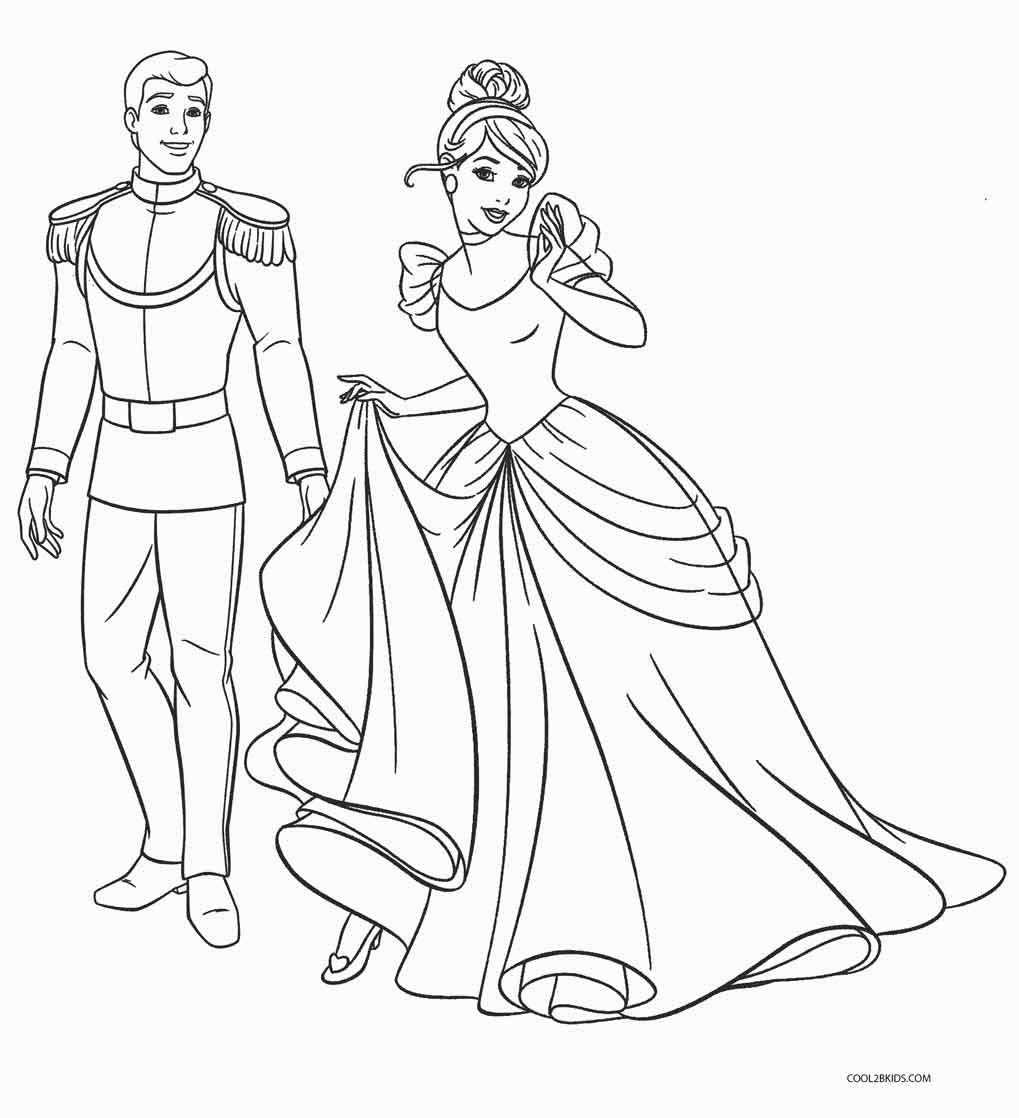 Printable Coloring Pages Kids  Free Printable Cinderella Coloring Pages For Kids