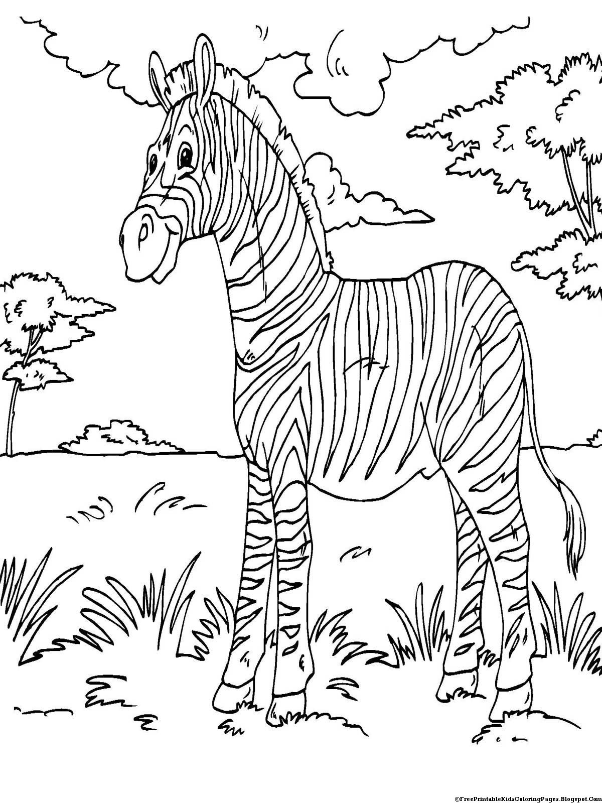 Printable Coloring Pages Kids  Zebra Coloring Pages Free Printable Kids Coloring Pages
