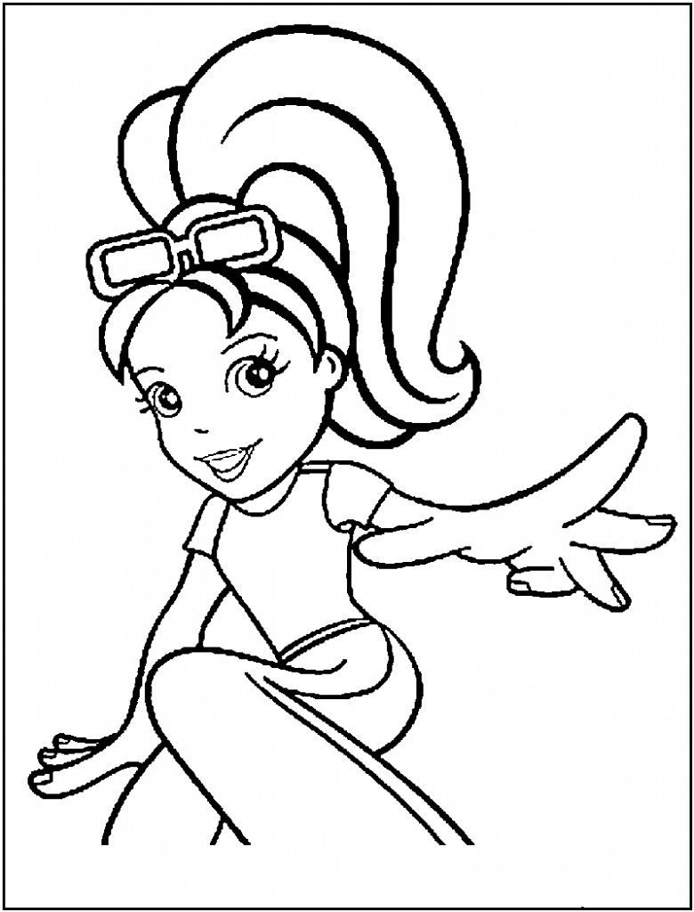 Printable Kids Coloring Pages  Free Printable Polly Pocket Coloring Pages For Kids