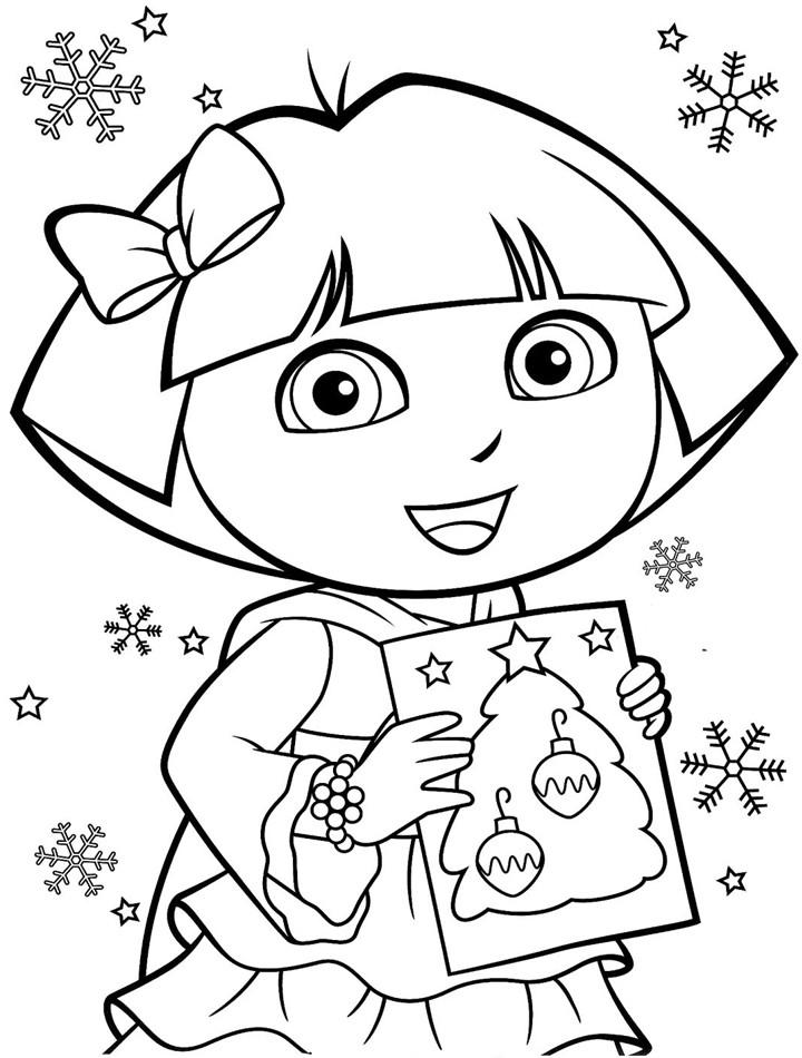 Printable Kids Coloring Pages  Printable Dora Coloring Pages
