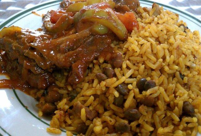 Puerto Rican Main Dishes  arroz con gandules