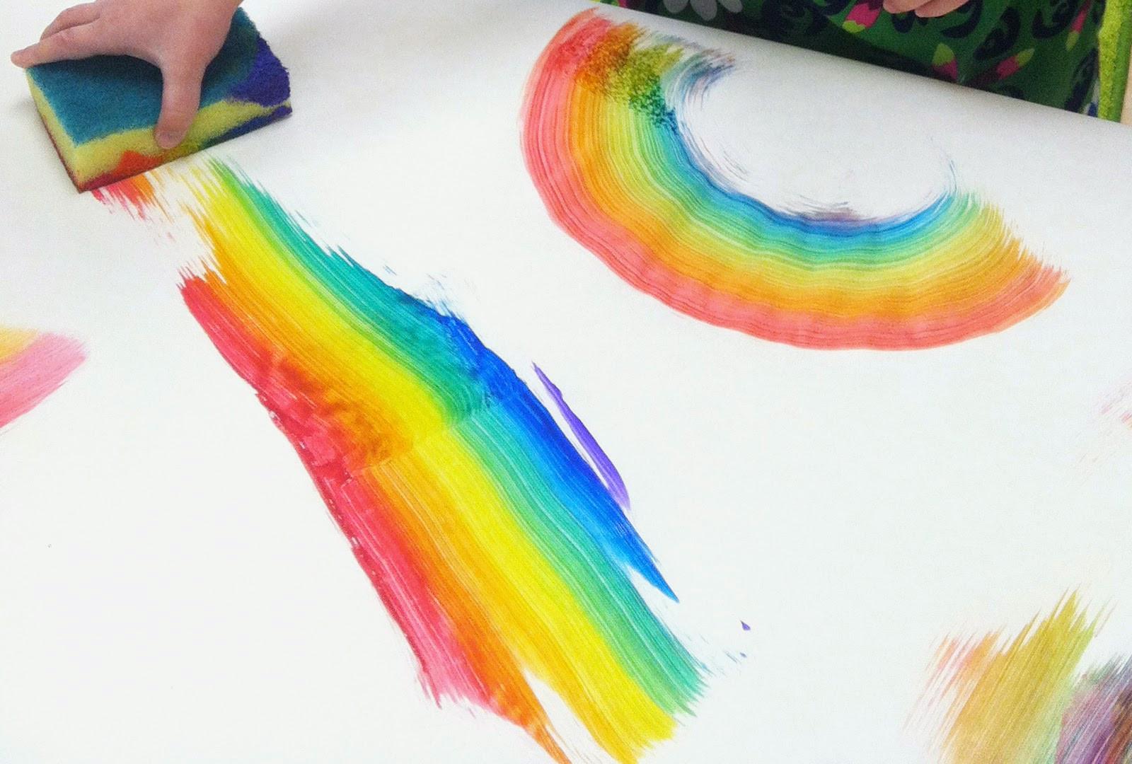 Rainbow Artwork For Preschoolers  Recycling Center