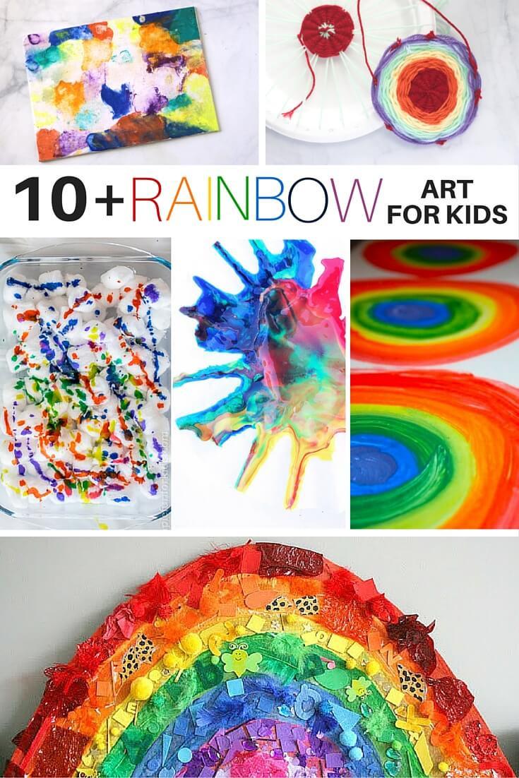 Rainbow Artwork For Preschoolers  10 Rainbow Art Activities for Kids ⋆ Sugar Spice and Glitter