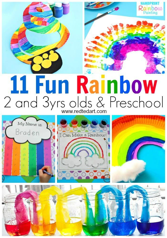 Rainbow Artwork For Preschoolers  Rainbow Crafts for Preschool Red Ted Art Make crafting