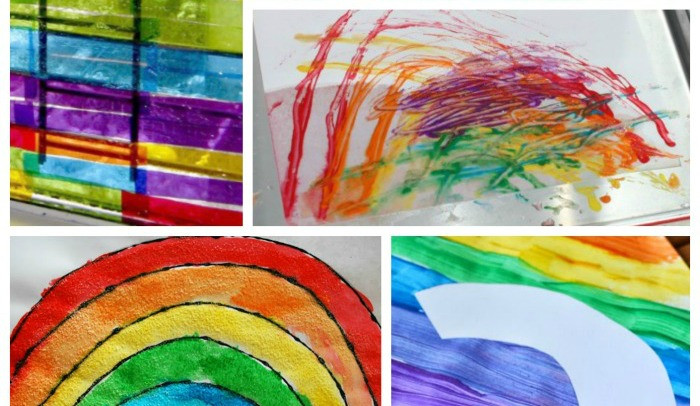 Rainbow Artwork For Preschoolers  Rainbow Art Activities for Preschool