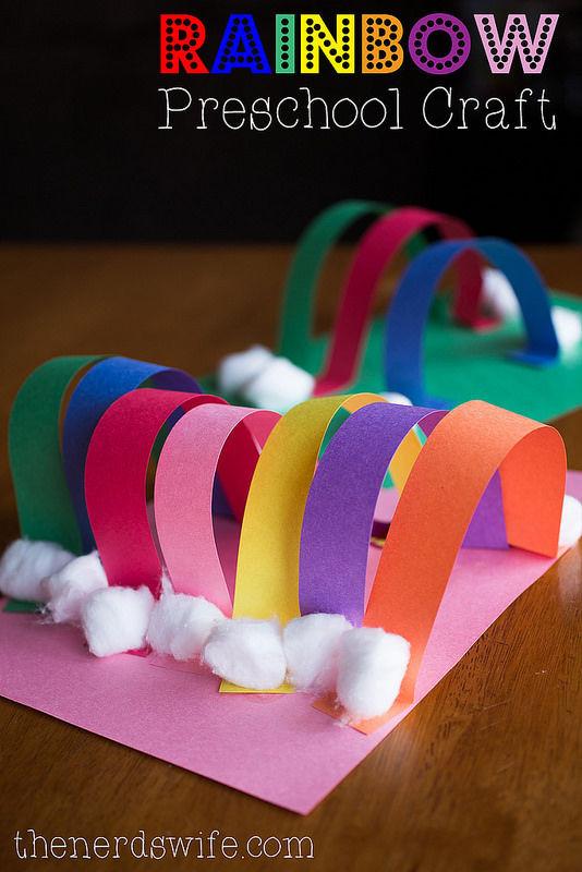 Rainbow Artwork For Preschoolers  Rainbow Preschool Craft s and for