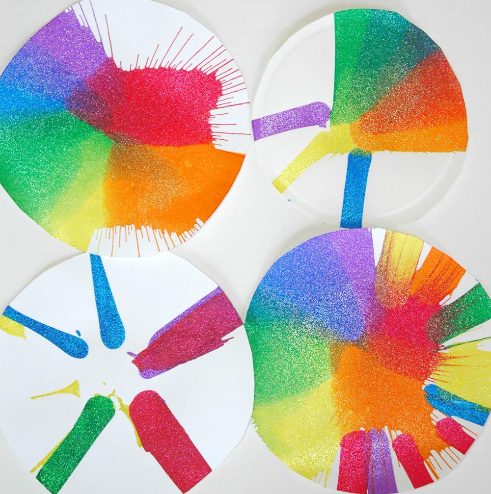 Rainbow Artwork For Preschoolers  Colors and Rainbows Theme Weekly Home Preschool