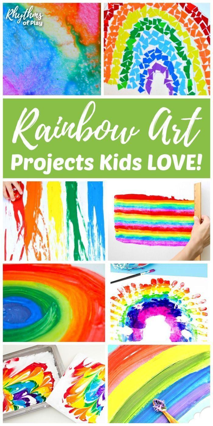 Rainbow Artwork For Preschoolers  665 best Art for Kids images on Pinterest