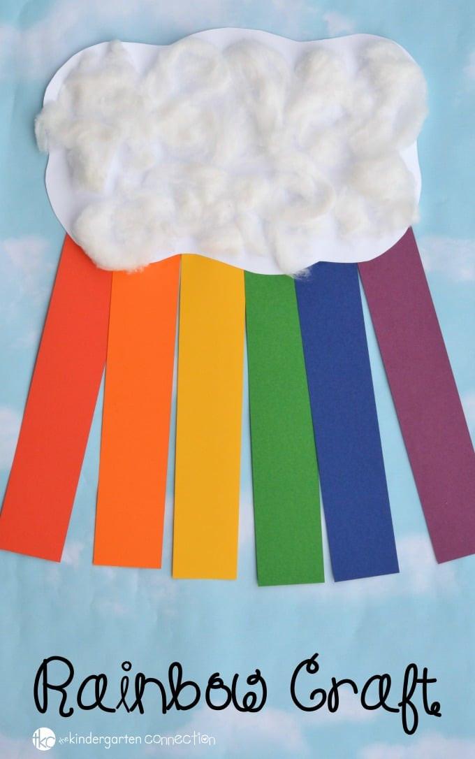 Rainbow Artwork For Preschoolers  Construction Paper Rainbow Craft for Kids