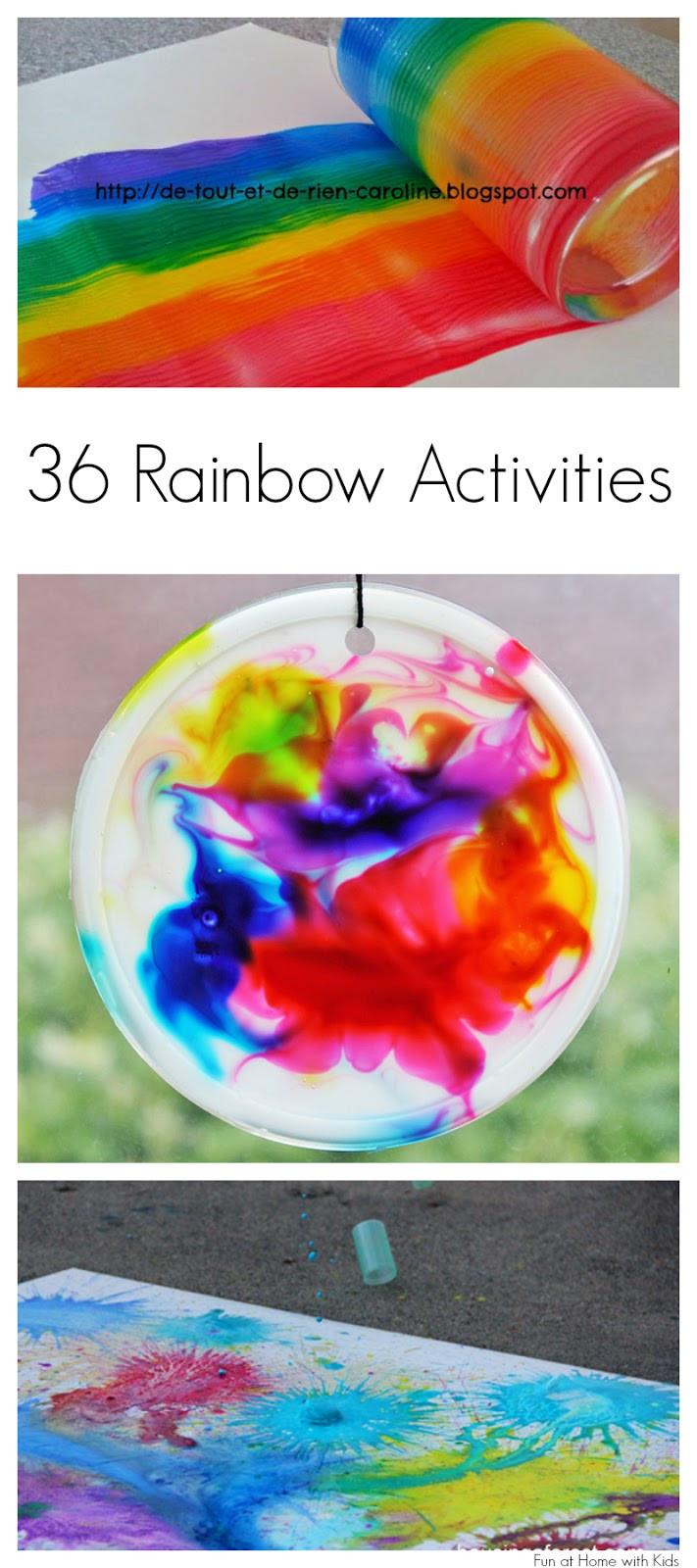Rainbow Artwork For Preschoolers  36 Rainbow Activities for Babies Toddlers Preschoolers