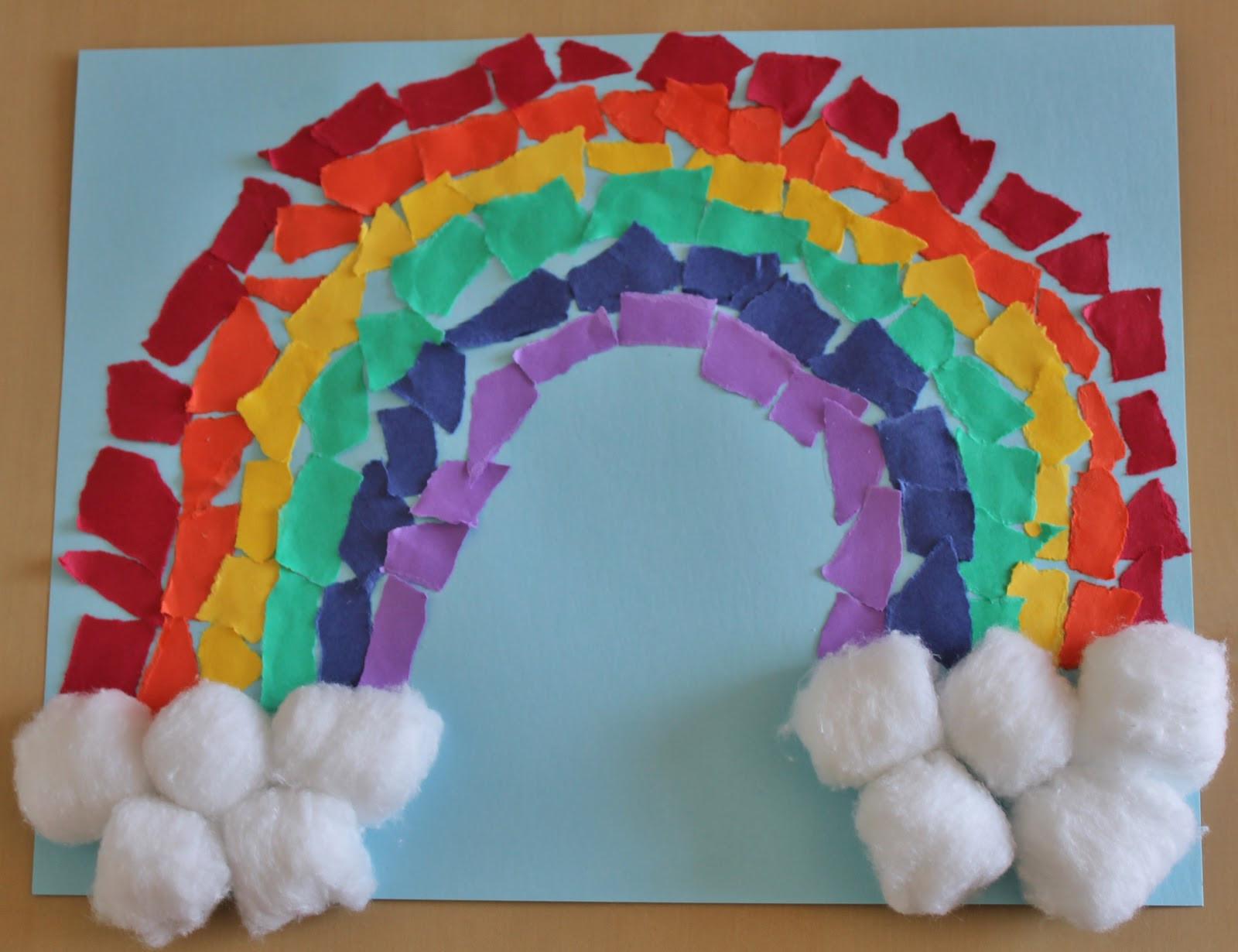 Rainbow Artwork For Preschoolers  Many Makings