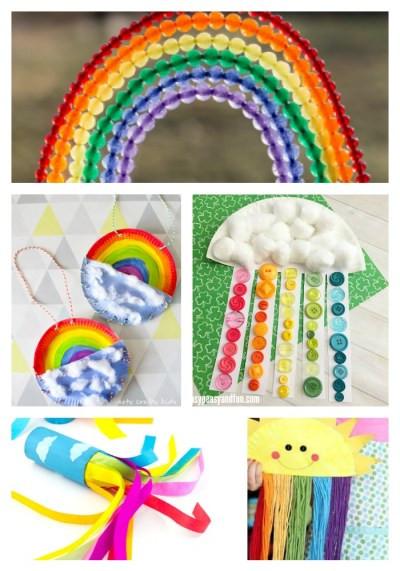 Rainbow Artwork For Preschoolers  22 Rainbow Kids Crafts Arty Crafty Kids