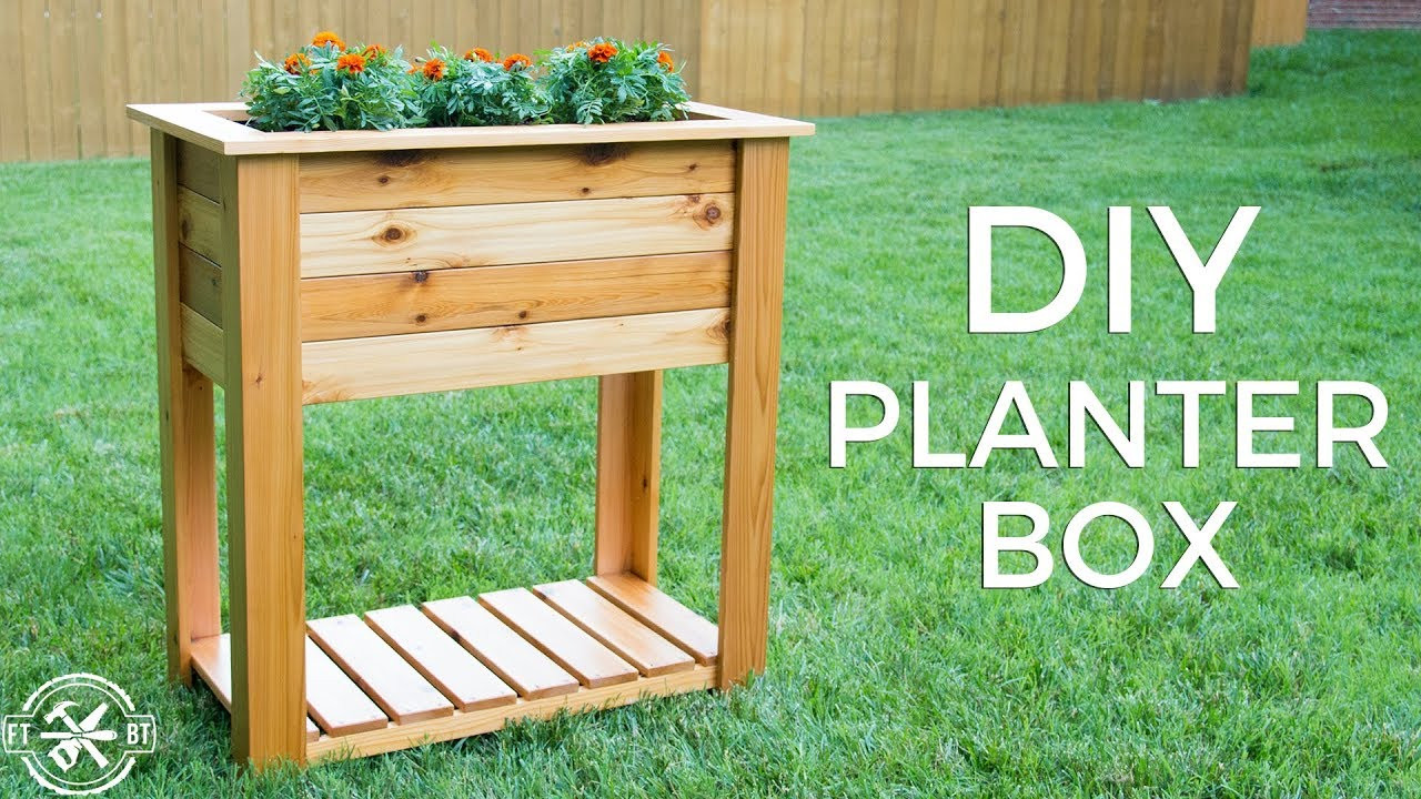 Raised Garden Boxes DIY  DIY Raised Planter Box with Hidden Drainage