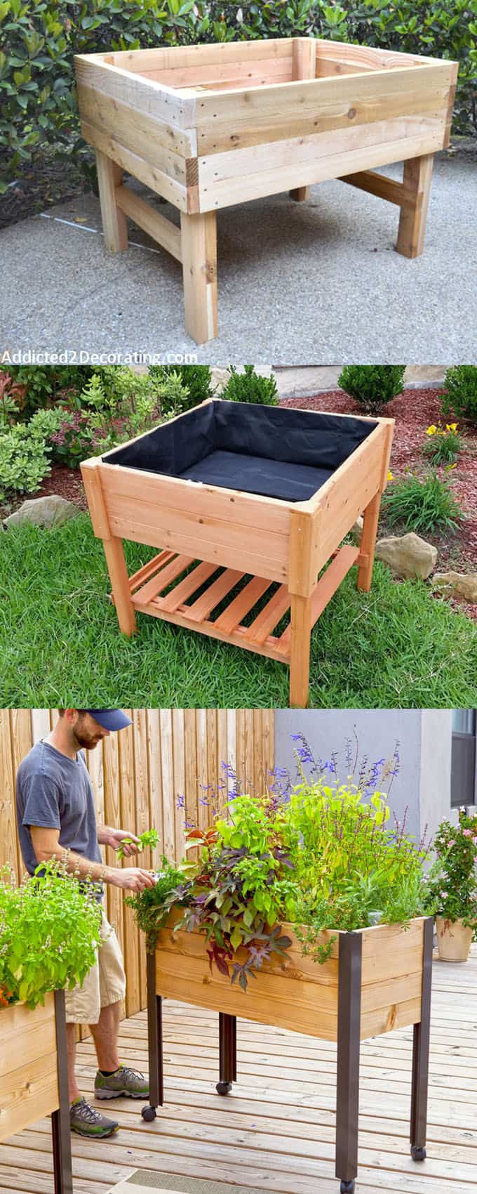 Raised Garden Boxes DIY  28 Amazing DIY Raised Bed Gardens A Piece Rainbow