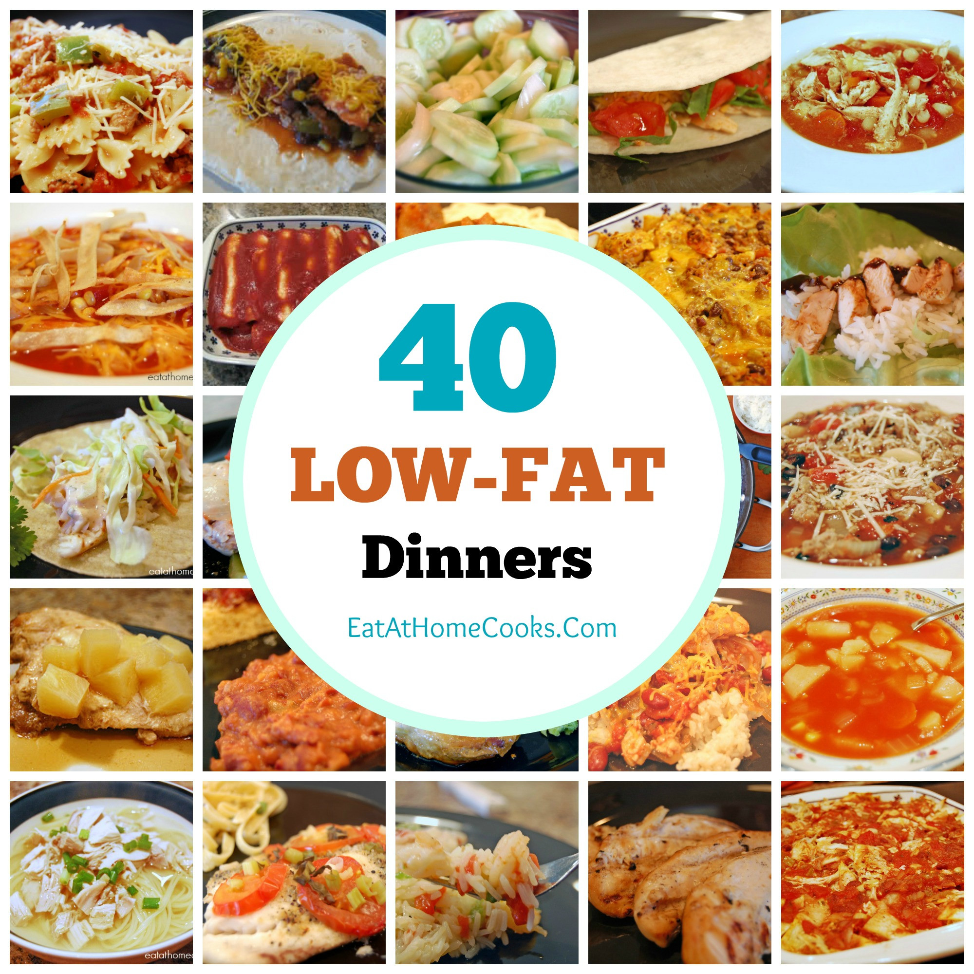Recipes For Low Cholesterol  My Big Fat List of 40 Low Fat Recipes Eat at Home