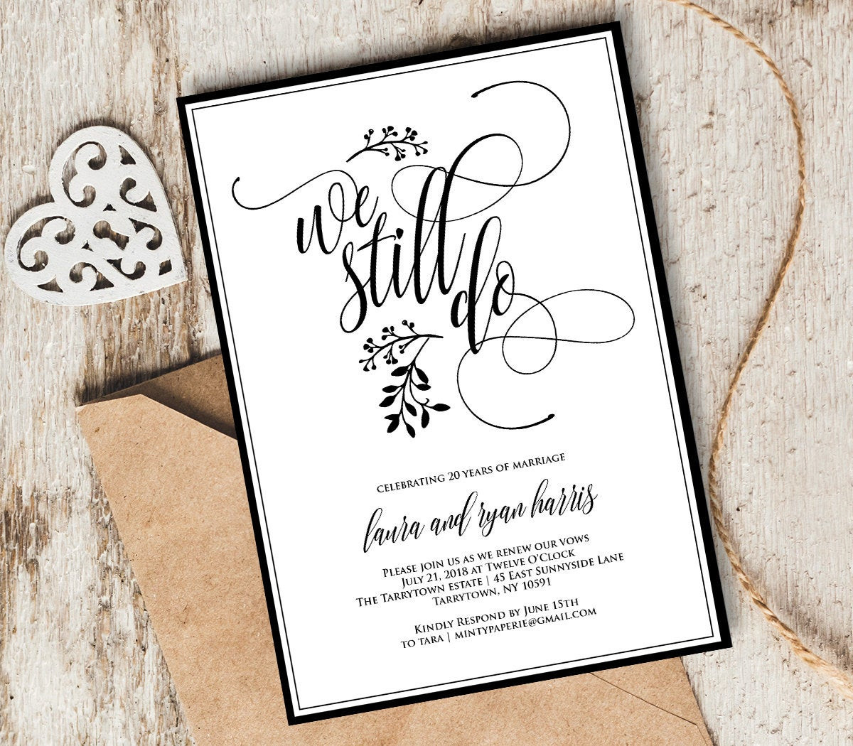 Renew Wedding Vows  Vow Renewal Invitation Template We Still Do Instant