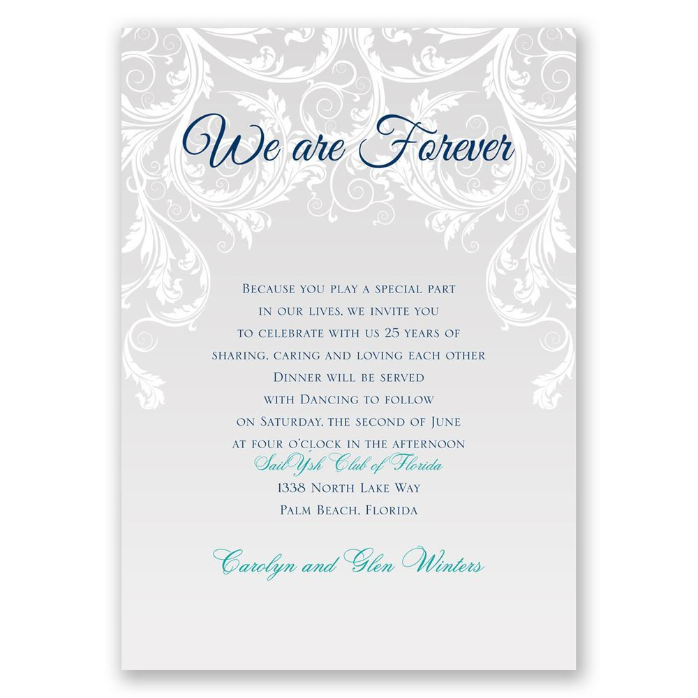 Renew Wedding Vows  We Are Forever Vow Renewal Invitation