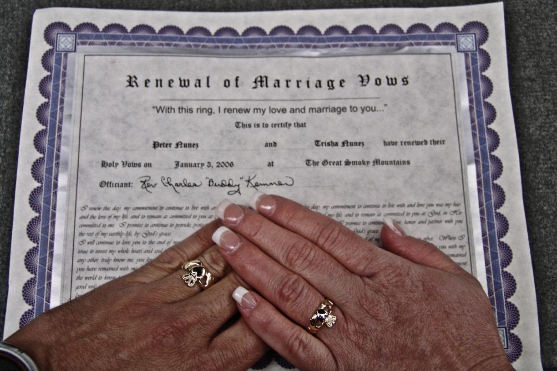 Renew Wedding Vows  Jo Anne s Ramblings Renewing Wedding Vows