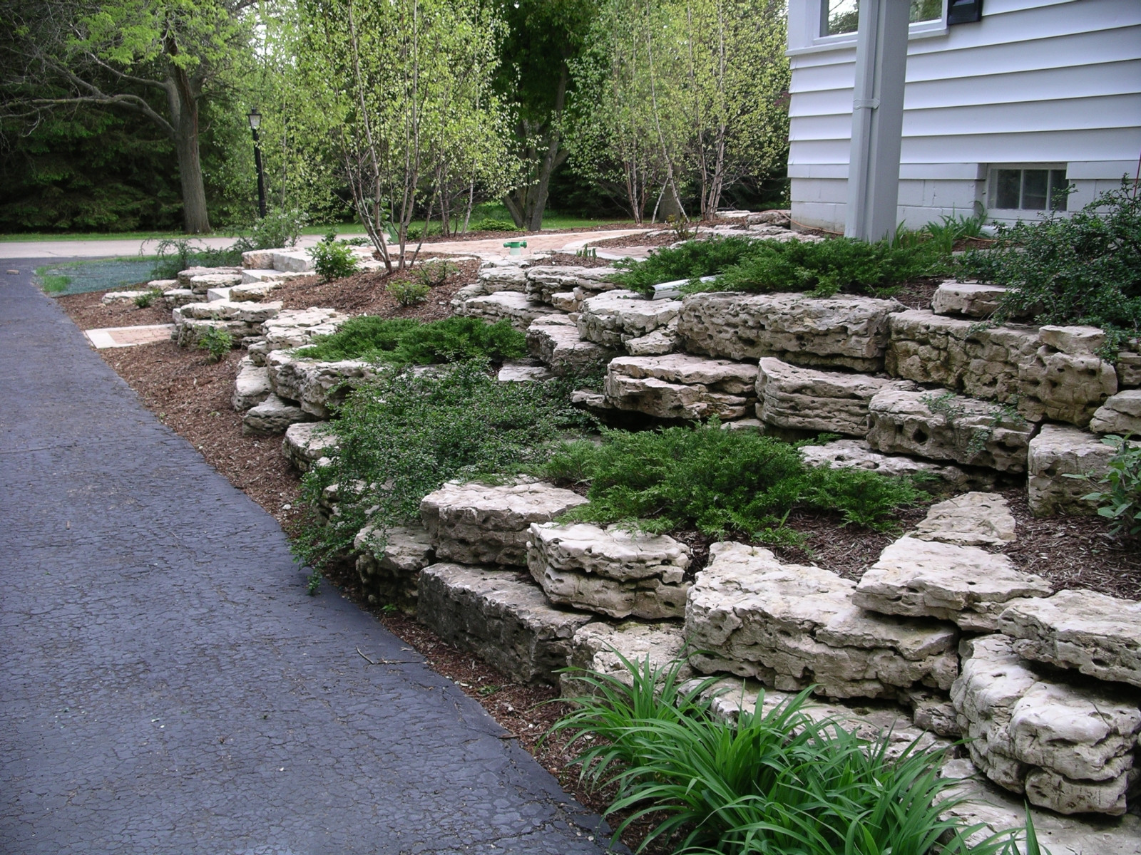 Rock Terrace Landscape  Retaining Walls and Outcroppings Treetops Landscape