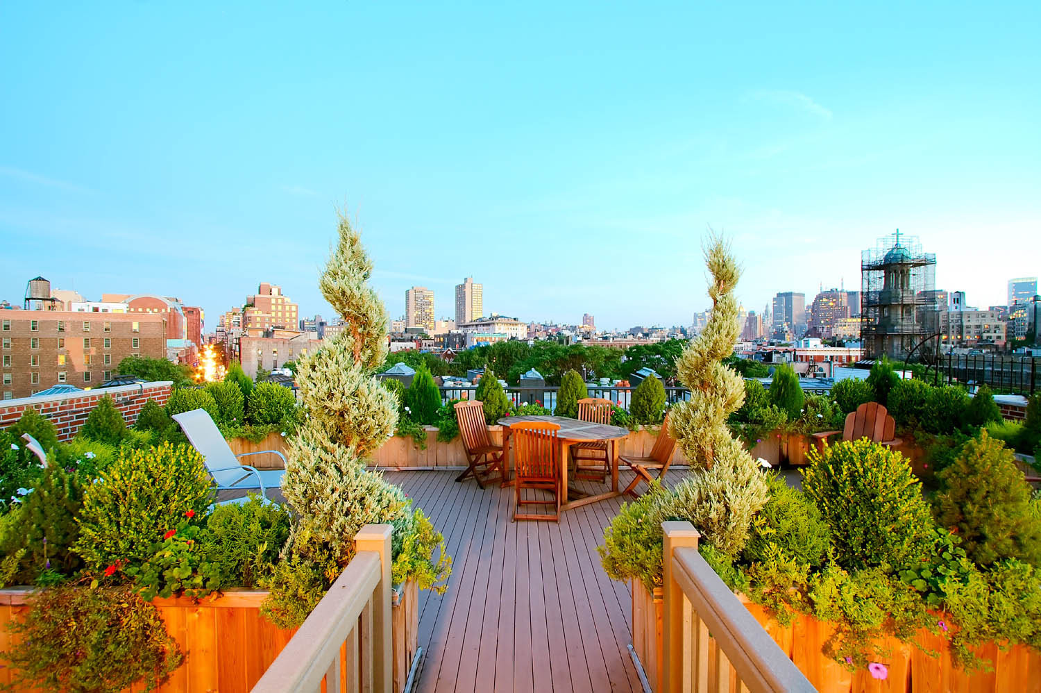 Rooftop Terrace Landscape  NYC Landscape Design How To Rooftop Terrace Garden All