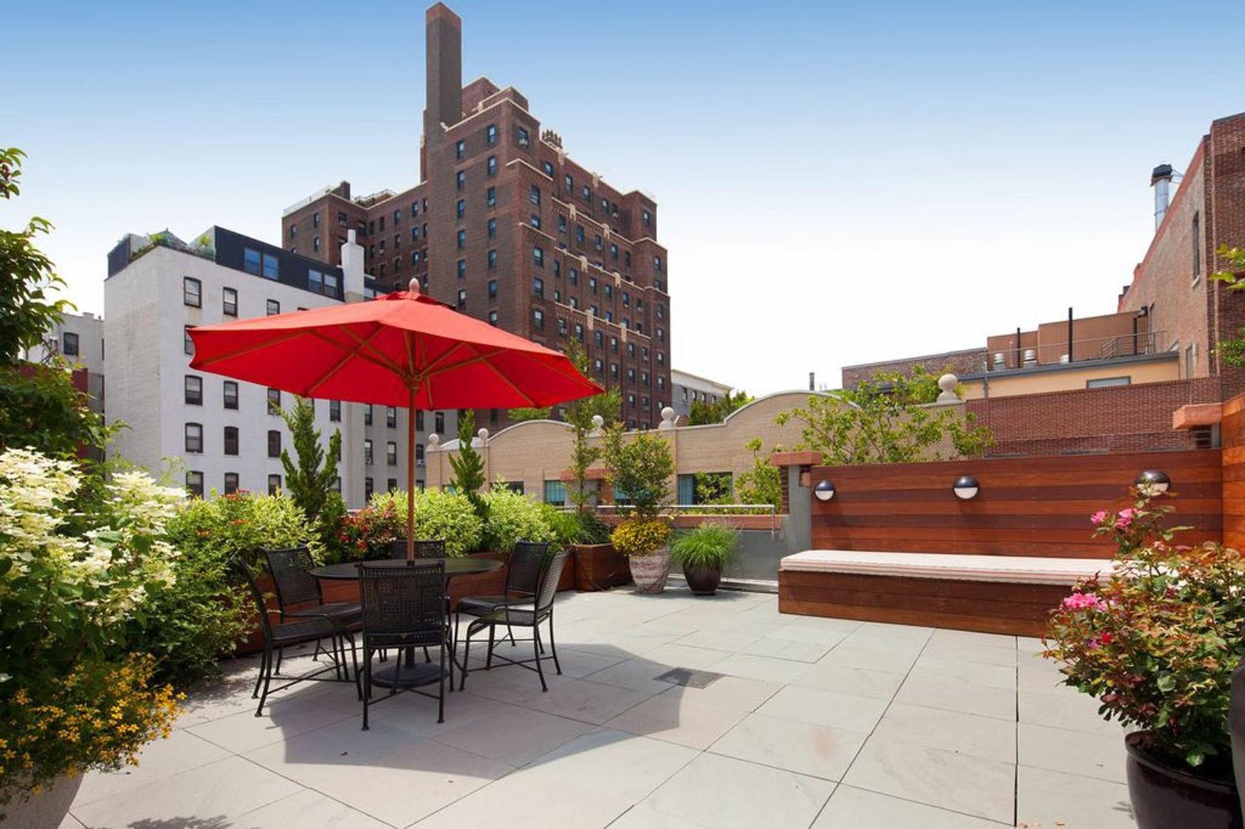 Rooftop Terrace Landscape  Brooklyn NYC Backyard Patio and Rooftop Terrace Garden