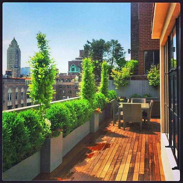 Rooftop Terrace Landscape  NYC Rooftop Terrace Roof Garden Deck Outdoor Dining