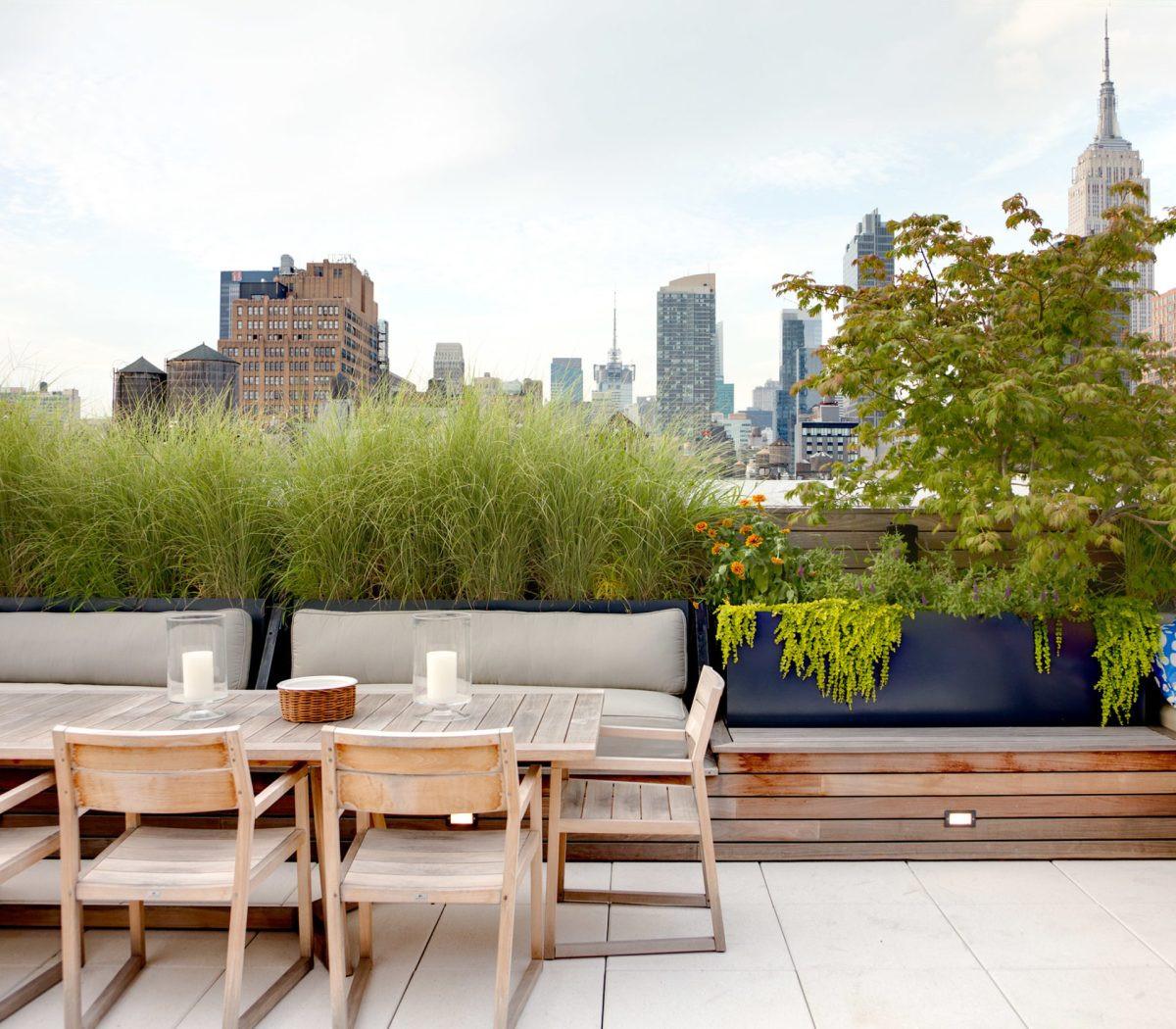 Rooftop Terrace Landscape  Chelsea Rooftop Terrace