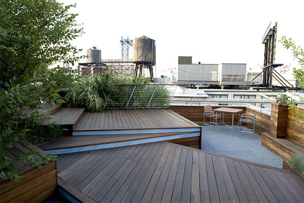Rooftop Terrace Landscape  Illuminated Rooftop Terrace is an urban roofscape by