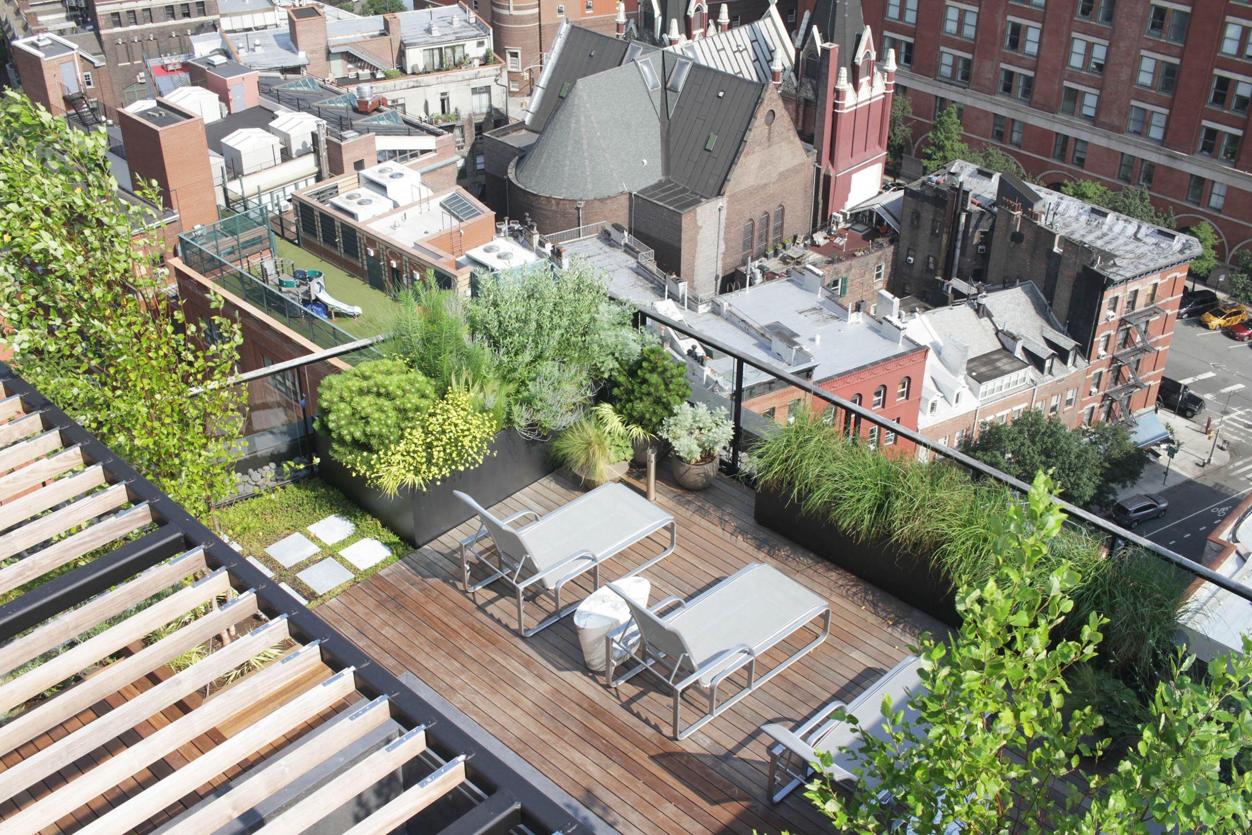 Rooftop Terrace Landscape  Private Rooftop Terrace Dirtworks Landscape Architecture PC