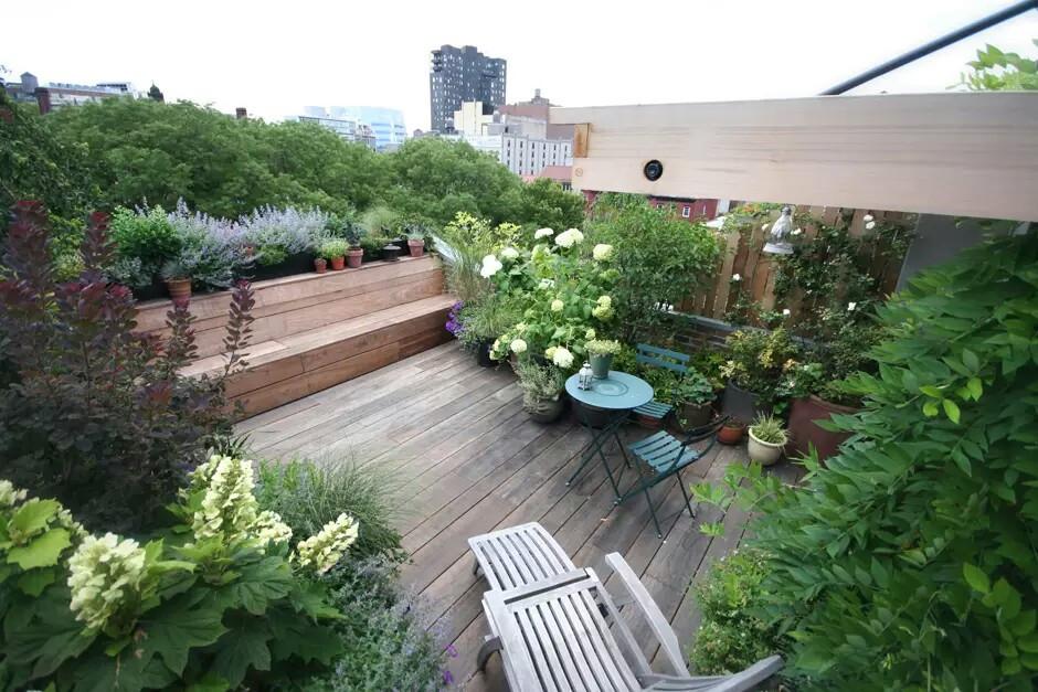 Rooftop Terrace Landscape  Terrace Gardens of New York City