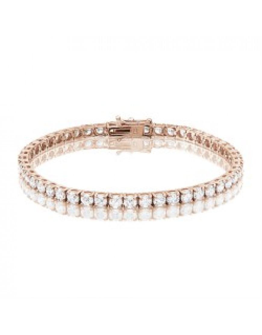 Rose Gold Bracelet  9 25ct Diamond Tennis Bracelet In 18ct Rose Gold