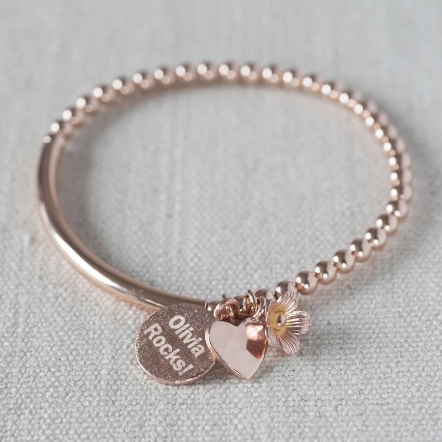Rose Gold Bracelet  14k Rose Gold Filled Bracelet By Oh So Cherished