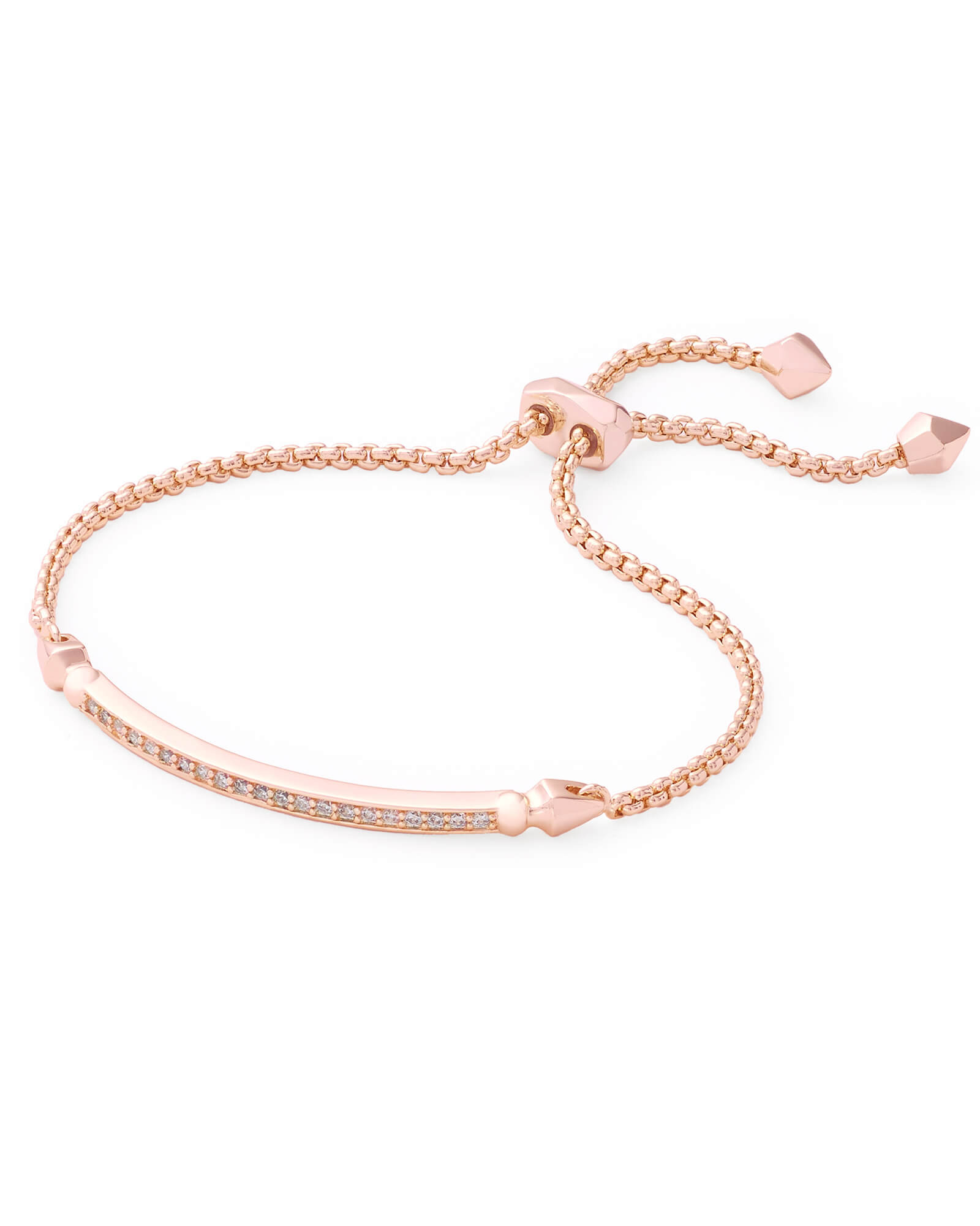 Rose Gold Bracelet  Ott Adjustable Chain Bracelet in Rose Gold