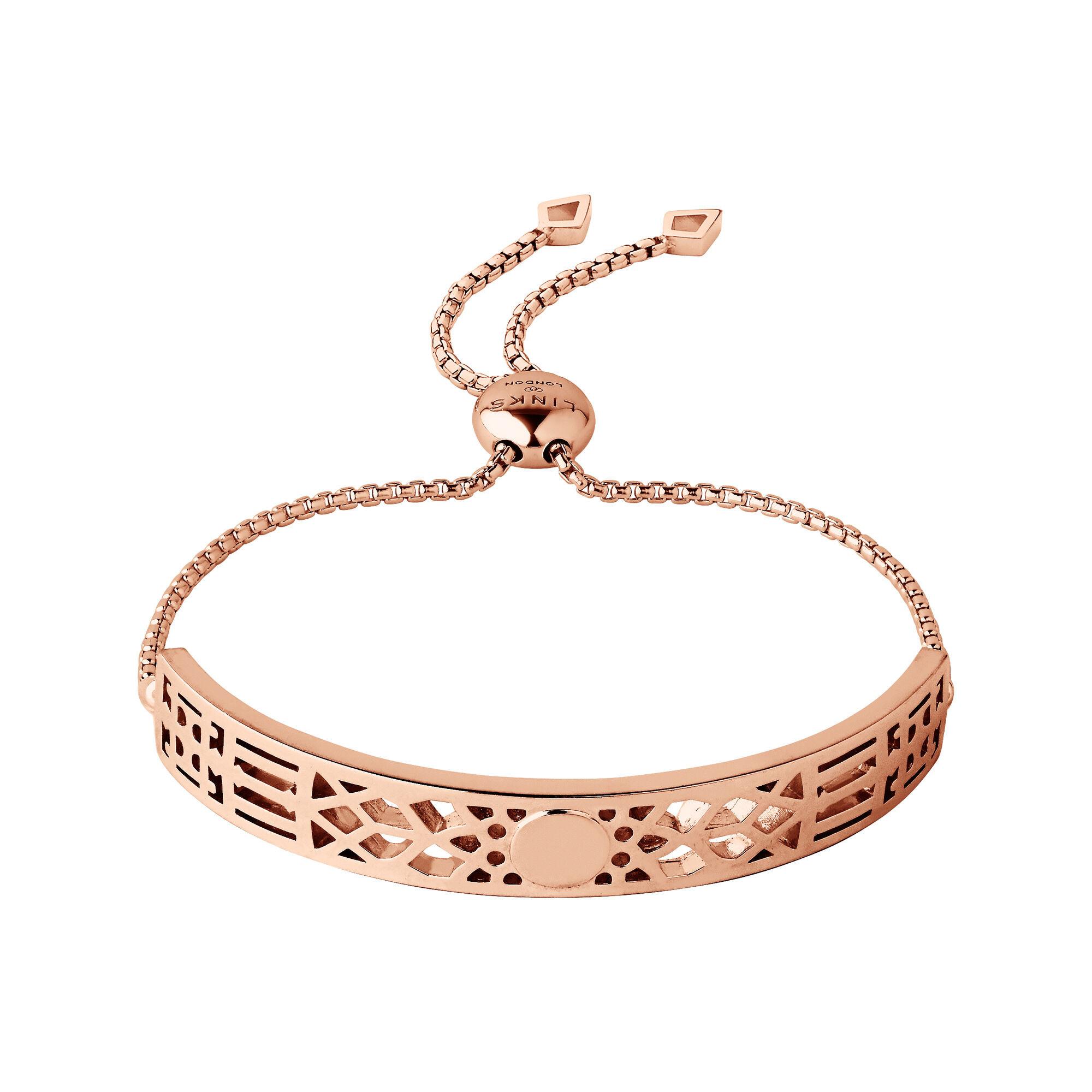 Rose Gold Bracelet  Timeless 18kt Rose Gold Vermeil Toggle Bracelet
