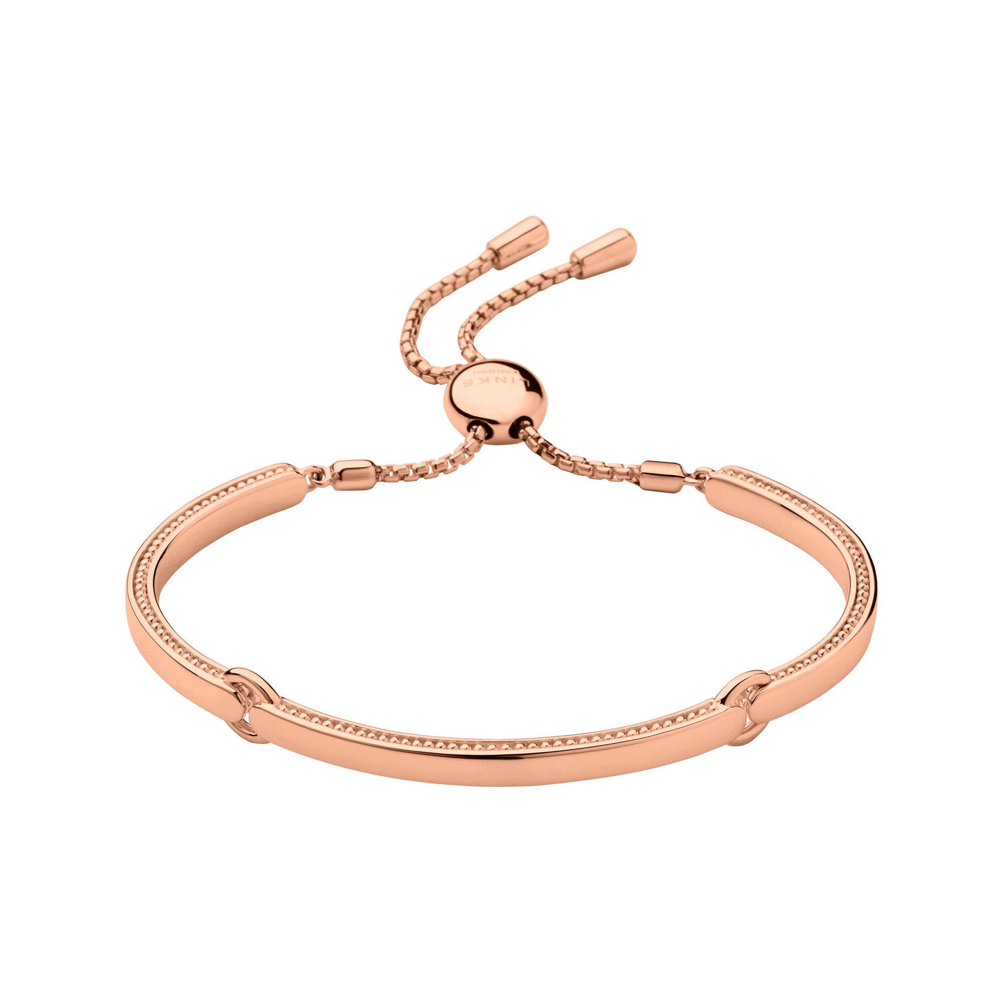 Rose Gold Bracelet  Narrative Rose Gold Bracelet