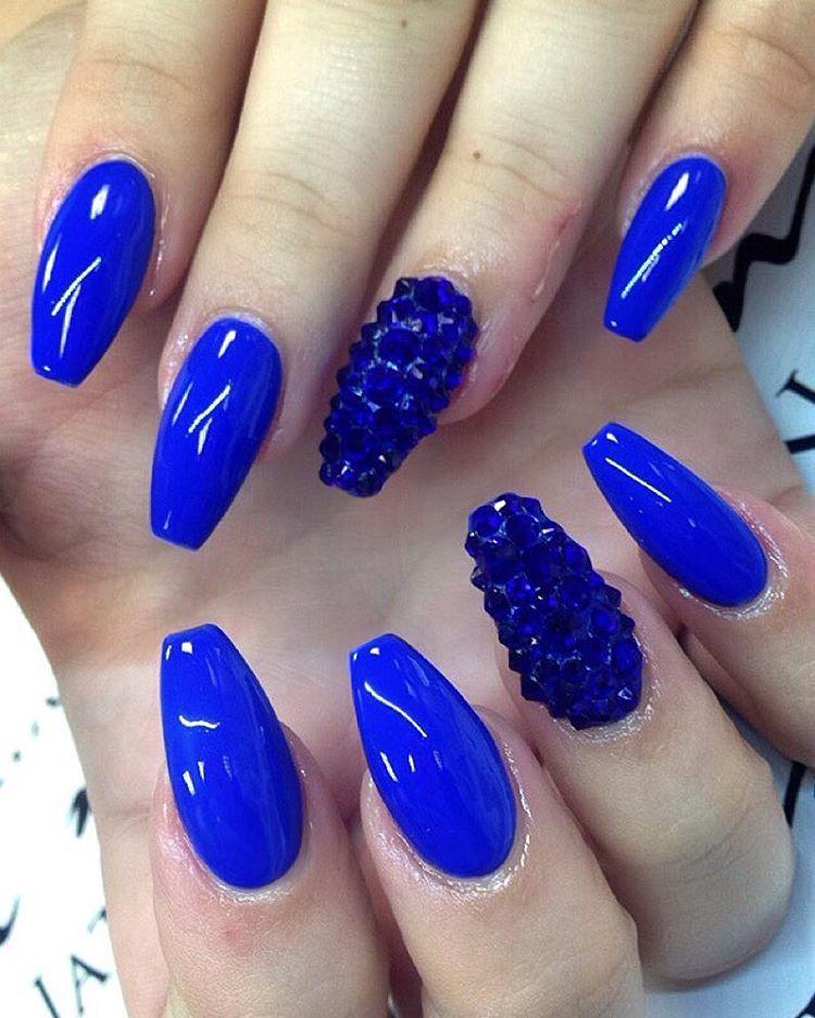 Royal Blue Nail Designs  81 Cool Royal Blue Nail Art Design Ideas For Trendy Girls